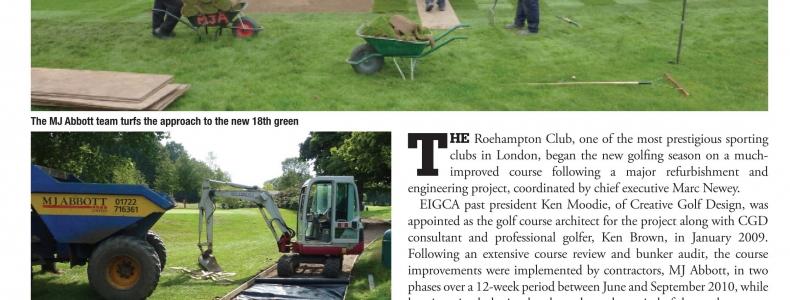 Golf Business Development – Roehampton Club Renovation article