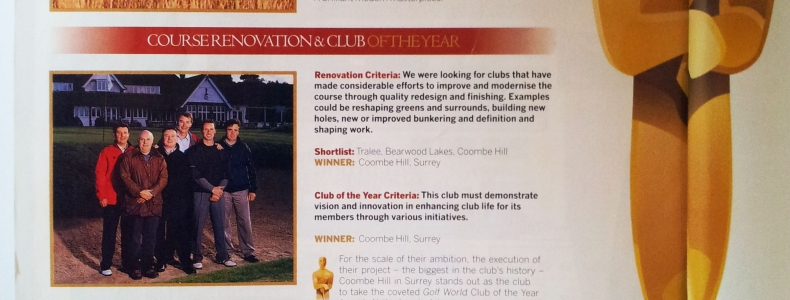 Golf World Magazine – Course Renovation of the Year 2004