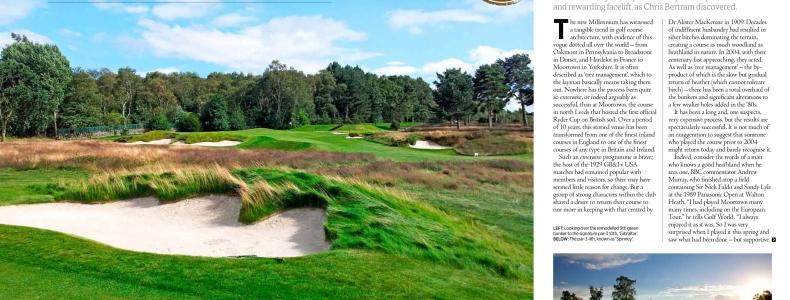 Golf World Magazine – Top 100 Spotlight Moortown