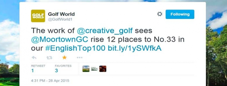 Moortown Rises 12 Places in Golf World Rankings