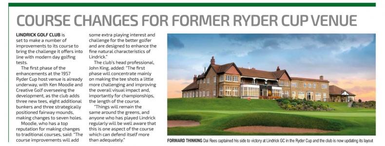 English Club Golfer article on Lindrick