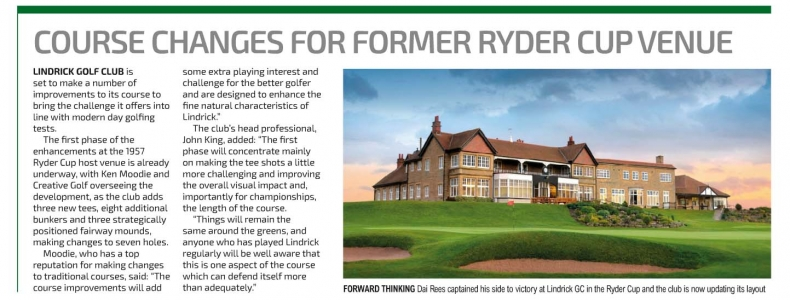 English Club Golfer article on Lindrick