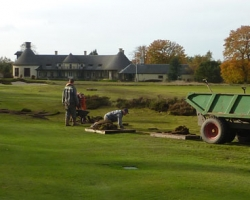 Phase 2 - construction on 18th hole
