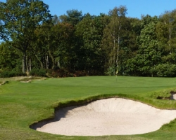 Remodelled bunkers on green 7